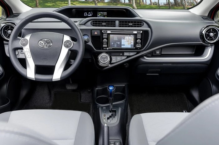 2021 Toyota Prius C New Dashboard and Features