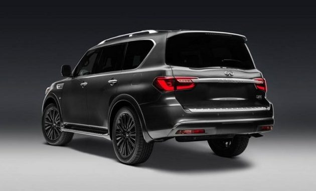 2021 Infiniti QX80 view from the back side