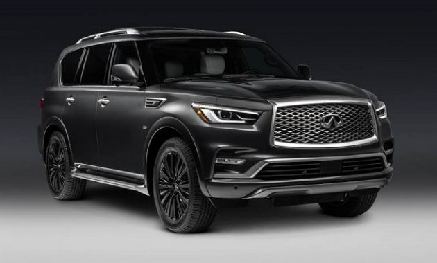 2021 Infiniti QX80 with new exterior layout