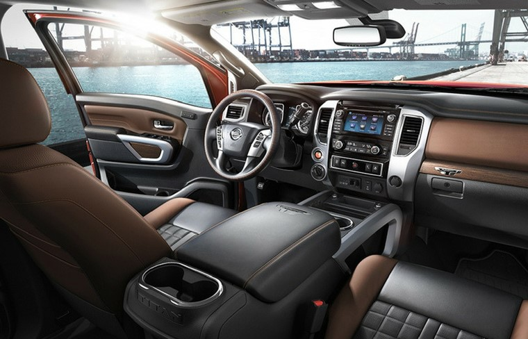 2021 Nissan Titan with new cabin layout