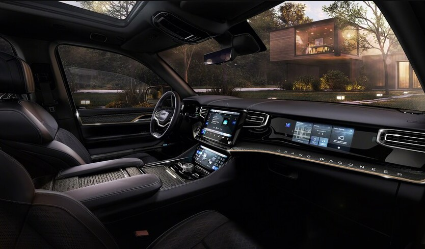2022 Jeep Wagoneer with new interior layout